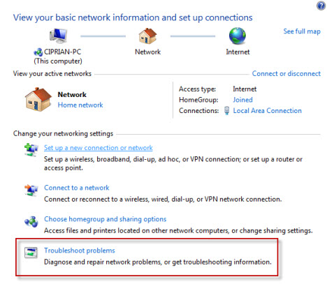 how to fix ipv4 no internet access windows 7